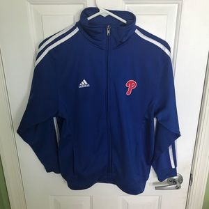 Royal blue boys/men's Phillies zip up jacket